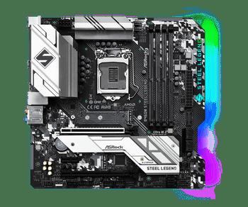 Intel B460; 4 DDR4 DIMM; 2 PCIe 3.0 x16, 1 PCIe 3.0 x1, 1 M.2 WiFi Key E; 6 SATA3, 1 Ultra M.2, 1 Ultra M.2; 7 USB 3.2 Gen1; HDMI, DisplayPort
