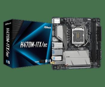 Intel H470;2 DDR4 DIMM;1 PCIe 3.0 x16;4 SATA3,1 Ultra M.2 (PCIe Gen3 x4 & SATA3),1 Ultra M.2 (PCIe Gen3 x4); 4 USB 3.2 Gen2 Type-A (Rear); 4 USB 3.2