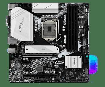 Intel H470; 4 DDR4 DIMM; 2 PCIe 3.0 x16, 2 PCIe 3.0 x1, 1 M.2 WiFi Key E; 6 SATA3, 1 Ultra M.2 & 1 M.2 (PCIe Gen3 x2 & SATA3); 2 USB 3.2 Gen2