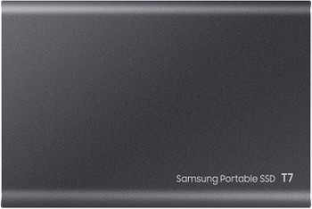 Portable SSD T7, 2TB, Titan Gray, USB3.2, Type-C, R/W(Max) 1,050MB/s, Aluminium Case, 3 Years Warranty