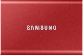 Portable SSD T7, 500GB, Metallic Red, USB3.2, Type-C, R/W(Max) 1,050MB/s, Aluminium Case, 3 Years Warranty
