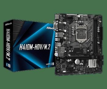 Intel H410M; 2 x DDR4; 1 PCIe 3.0 x16, 1 PCIe 3.0 x1, 1 M.2 WiFi Key E; 4 SATA3, 1 Ultra M.2 (PCIe Gen3 x4 & SATA3); 4 USB 3.2 Gen1