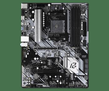 AMD B550; 4 DDR4; PCIe 4.0 x16, PCIe 3.0 x16, 2 PCIe 3.0 x1, M.2 WiFi Key E; 6 SATA3, Hyper M.2 (PCIe), M.2 (PCIe); 8 USB 3.2 ; Graphics: HDMI