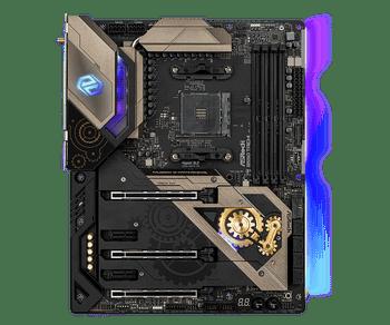 AMD B550; 4 DDR4 DIMM; 3 PCIe 4.0/3.0x16, 2 PCIe 3.0 x1; 8 SATA3,Hyper M.2 (PCIeGen4 x4),Ultra M.2 (PCIeGen3 x4 & SATA3); 3 USB 3.2Gen2, 8 USB 3.2Gen1