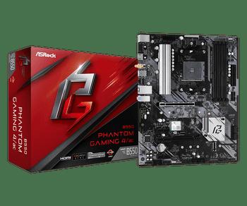AMD B550; 2 DDR4 DIMM; 1 PCIe 4.0 x16; 4 SATA3, 1 Hyper M.2 (PCIe Gen4 x4), 1 Ultra M.2 (PCIe Gen3 x4 & SATA3); 3 USB 3.2 Gen2, 6 USB 3.2 Gen1