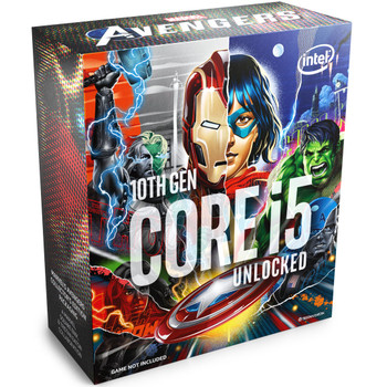 Avengers Packaging, Boxed Intel Core i5-10600K Processor (12M Cache, up to 4.80 GHz) FC-LGA14A