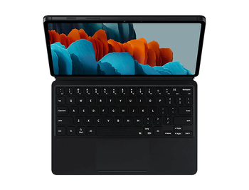 Tab S7 Book Cover Keyboard Black