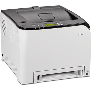 Ricoh SP C250DN 21ppm A4 Wireless Colour Laser Printer + Full 2K Black Toner (407547) + FREE Starter Colour Toners (Cyan, Magenta & Yellow)