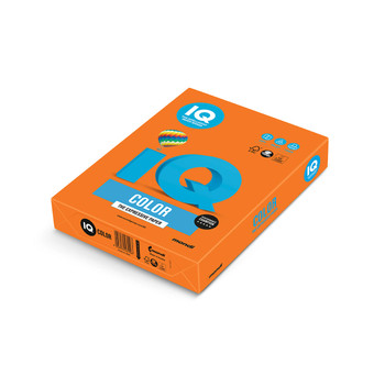 IQ Color 180094038 OR43 Orange Mondi A4 80gsm Tinted Paper