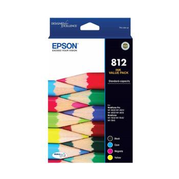 EPSON 812 STD CAP DURABRITE ULTRA VALUE PACK SUITS WF-3820 3825 4830 4835 7830 7840 7845