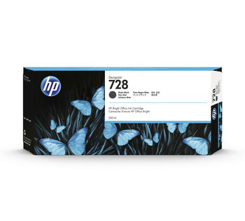 HP 728B 300-ml Matte Black DesignJet Ink Cartridge
