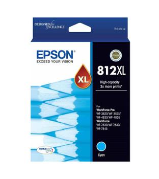 EPSON 812XL HI CAP DURABRITE ULTRA CYAN INK SUITS WF-3820 3825 4830 4835 7830 7840 7845