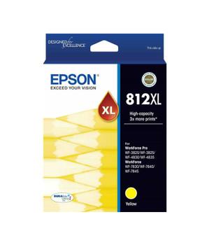 EPSON 812XL HI CAP DURABRITE ULTRA YELLOW INK SUITS WF-3820 3825 4830 4835 7830 7840 7845