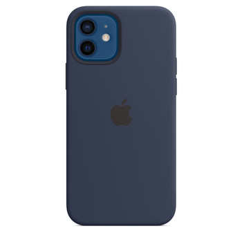 Apple iPhone 12 /12 Pro Silicone Case with MagSafe - Navy
