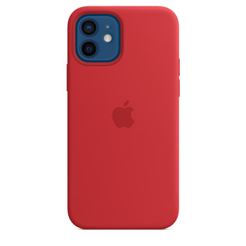 Apple iPhone 12 /12 Pro Silicone Case with MagSafe - Red
