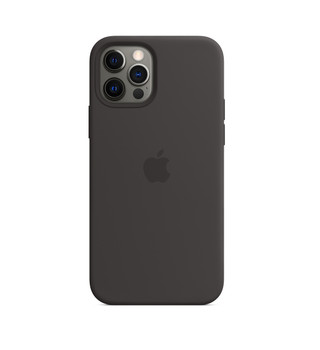 Apple iPhone 12 /12 Pro Silicone Case with MagSafe - Black