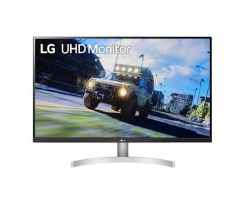 "LG 32"" (16:9) UHD 4K LED Monitor with FreeSync, Hdmi(2), Dp, Hdr10, Spkr, Vesa, White, 3yr"