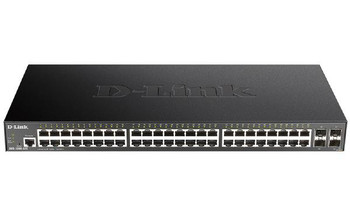 D-Link 52-Port Gigabit Smart Managed Switch with 48 RJ45 and 4 SFP+ 10G Ports