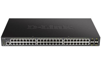D-Link 52-Port Gigabit Smart Managed PoE Switch with 48 RJ45 and 4 SFP+ 10G Ports