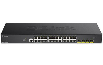 D-Link 28-Port Gigabit Smart Managed Switch with 24 RJ45 and 4 SFP+ 10G Ports