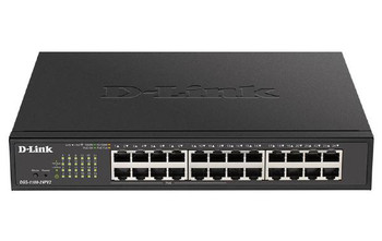 D-Link 24-Port Gigabit Smart Managed PoE Switch with 12 PoE ports (100W PoE budget)