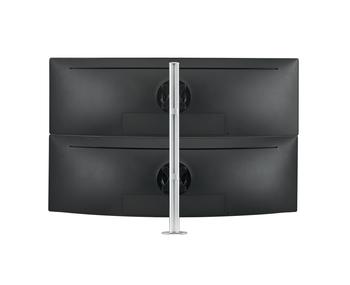 Atdec Dual Stack Desk Mount Silver