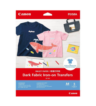 Canon Dark Fabric Iron on Transfers - 5 Pack