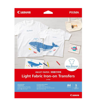 Canon Light Fabric Iron on Transfers - 5 Pack