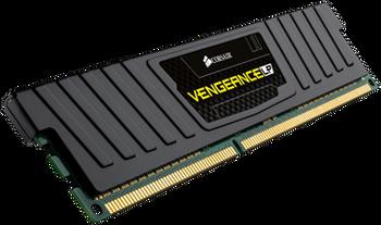 CORSAIR Vengeance LP 16GB (2x8GB) DDR3 DRAM DIMM 1600MHz Unbuffered 10-10-10-27 Black Heat spreader 1.5V