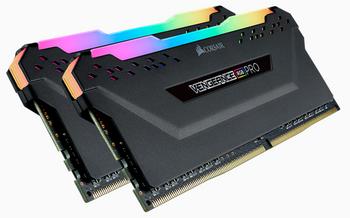 CORSAIR Vengeance RGB PRO  DDR4, 3600MHz 16GB 2x 288 DIMM, Unbuffered, 18-22-22-42, black Heat spreader,1.35V, XMP 2.0,for AMD Ryzen