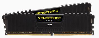 CORSAIR Vengeance LPX DDR4, 3000MHz 16GB 2 x 288 DIMM, Unbuffered, 16-20-20-38, Black Heat spreader, 1.35V, XMP 2.0, Supports 6th Intel Core i5/i7