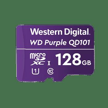 WD Purple 128 GB MicroSD;Storage Capacity:128 GB;Maximum read speed:100 MB/s;Speed Class rating: class 10/uhs-iii (U3); 3 YRS