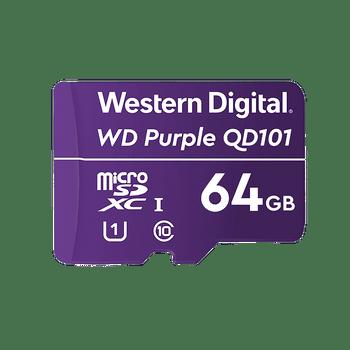 WD Purple Micro sd, 64 gb, No Cache / Buffer,3 years warranty