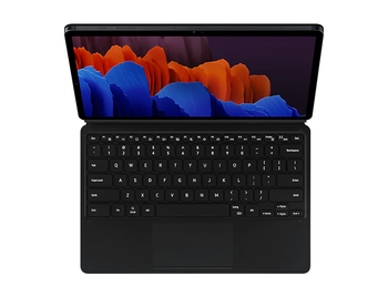 Tab S7+ Book Cover Keyboard Black