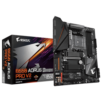 AMD B550 AORUS MB w12+2 Phases Digital Twin Power Design,Fins-Array Heatsink, Direct-Touch Heatpipe, Dual PCIe 4.0/3.0 x4 M.2 wDual