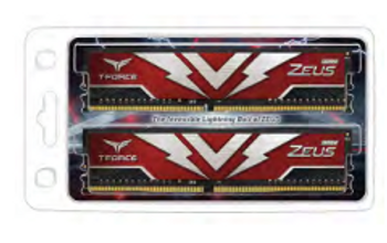 T-FORCE Zeus Series 64GB(2x32GB) DIMM DDR4 3000MHz 1.35V, Red Heat spreader