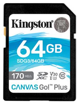 64GB SDXC Canvas Go Plus 170R C10 UHS-I U3 V30