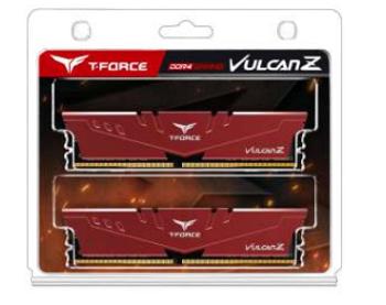 T-Force Vulcan Z 32GB (2x16GB) DDR4 3200MHz DIMM Red Heatspreader
