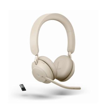 Jabra Evolve2 65 Link380a MS Stereo Headset - Beige