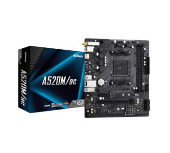 ASRock A520m/ac Motherboard