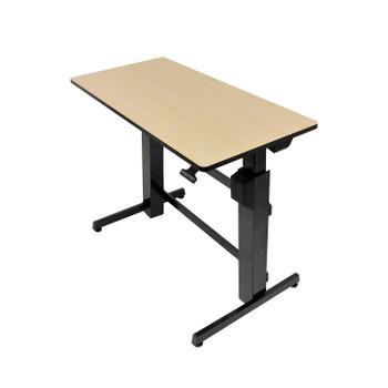 Ergotron Workfit-d Birch Wood Grain Standing Desk