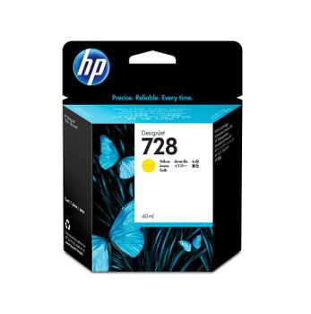HP 728 40-ml Yellow DesignJet Ink Cartridge