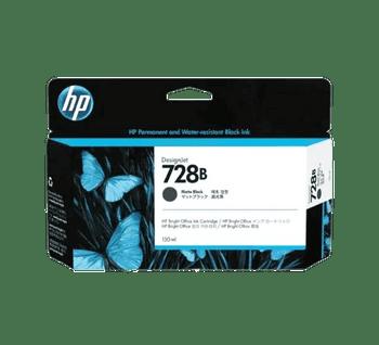 HP 728B 130-ml Matte Black DesignJet Ink Cartridge