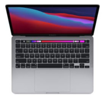 CTO 13-inch MacBook Pro with Touch Bar/Space Grey/Apple M1 chip with 8-core CPU and 8-core GPU/8GB/512GB SSD storage/M1 Chip/Backlit KB///
