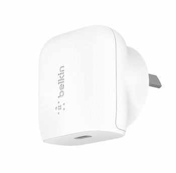 Belkin 1 Port Wall Charger, 20w Usb-c (1) Pd, White, 2yr With 2500 Cew