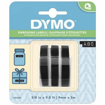 Dymo Embossing Tape 3 Pack Black 9mm x 3m