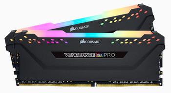 CORSAIR Vengeance RGB PRO DDR4, 3600MHz 16GB 2 x 288 DIMM, Unbuffered, 18-19-19-39, Heat spreader, RGB LED, 1.35V, XMP 2.0