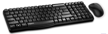Wireless Keyboard and Optical Mouse Combo BLACK 2.4G /1000 DPI Mouse/ /NANO Receiver/ Multimedia Function