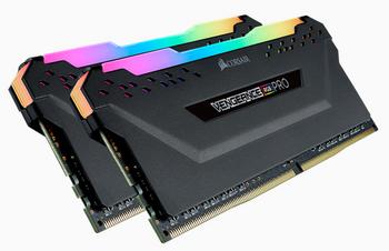 CORSAIR Vengeance RGB PRO DDR4, 3600MHz 32GB 2 x 288 DIMM, Unbuffered, 18-22-22-42, Heat spreader, RGB LED, 1.35V, XMP 2.0