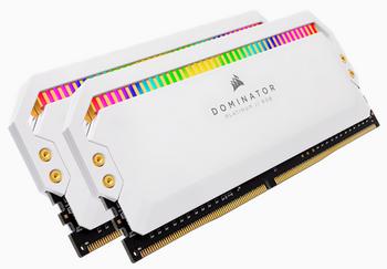 CORSAIR DOMINATOR PLATINUM RGB DDR4, 3600MHz 16GB 2x8GB DIMM, Unbuffered, 18-19-19-39, XMP 2.0, White Heatspreader, RGB LED, 1.35V